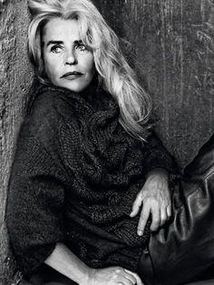Swedish actress Ewa Fröling in a photo session for La Republica 2012: Io sono Ewa      Dalla Svezia,una bellezza senza tempo: Ewa Fröling, attrice. Con pezzi di base maschili ad alta femminilità. Foto Max Cardelli