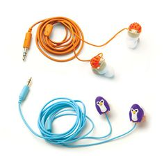 Hedgehog And Penguins Earbuds.