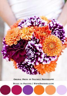 Purple wedding ideas, bouquet. Fall Wedding Bouquets: 10 Colorful Bouquets for your Fall Wedding » KnotsVilla
