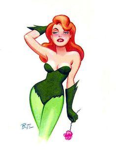 Retro Poison Ivy- would make a fab tattoo
