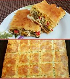 Greek Recipes, Vegan Recipes, Cooking Recipes, Food Network Recipes, Food Processor Recipes, Greek Pastries, The Kitchen Food Network, Quiche, Greek Cooking