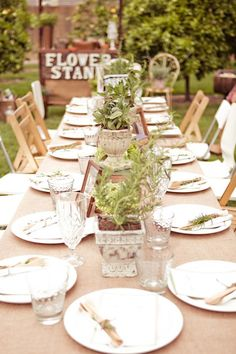 Inspired by Ashley's Vintage Garden and Blueberry Bridal Shower