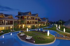 Zoetry Agua Punta Cana is just as beautiful by night as it is during the day.