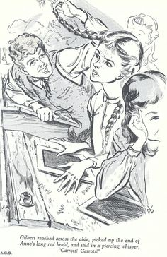 Hilton Hassell illustration of Anne and Gilbert