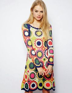 .lovely circular granny-ish dress
