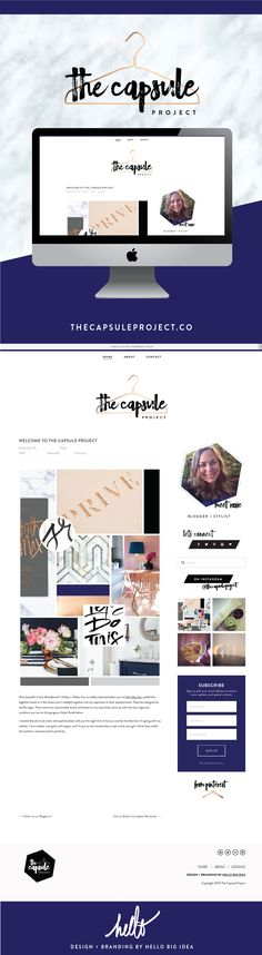 Squarespace design for @thecapsuleproject | Blog and Branding by Hello Big Idea
