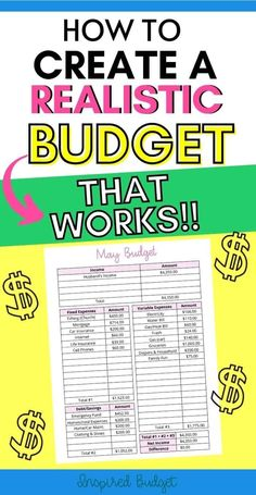 The Easiest Way To Start A Budget - Inspired Budget Budgeting Worksheets, Budgeting Finances, Budgeting Tips, Make More Money, Ways To Save Money, Money Saving Tips, Budget Envelopes, Cash Envelopes, Making A Budget