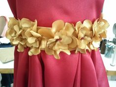 faixa do vestido de flores