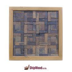 Ručně vyráběný obraz vyskládaný kousek po kousku ze dřeva vysloužilých lodí Dálného východu vsazený do kvalitního dřevěného rámu.   Rozměr obrazu 340 x 340 mm.  Součástí dodávky rámu (obrazu) je kovové očko vč. hřebíčků pro umístění na rám dle potřeb zákazníka.