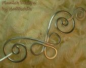 Small HAMMERED CELTIC Brooch, Hair Pin or Shawl Pin For Scarf made with Aluminum Wire - Very light to wear -. $12.50, via Etsy.