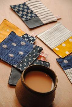 patchwork coasters | MIELmarkt   www.miel-books.com