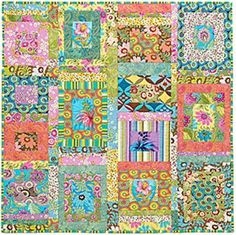 quilt colour ideas. Simple quilt. Free pattern on website. Ginger quilt by Amy Butler.
