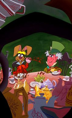 MARCH HARE & THE MAD HATTER ~ Alice in Wonderland, 1951
