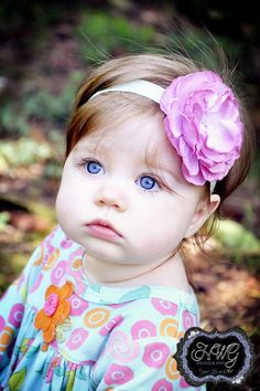 Adorable outfit, headband, and little girl! Maybe out little one will look like this :)