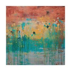 "Trademark Fine Art ""Lithosphere Orange Blue Grey"" Wrapped Canvas Art Size: H x W x D Grey Canvas Art, Canvas Size, Buy Art Online, Online Check, Art Auction, Artist Canvas, Medium Art, American Art, Art Reproductions"