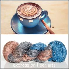 Expression Fiber Arts, Inc. - COFFEE ART BEADED SILK WORSTED , $35.00 (http://www.expressionfiberarts.com/products/coffee-art-beaded-silk-worsted.html)