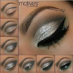 DIY New Year Make-up Idea