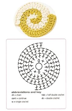Spiral Crochet Pattern, Free Crochet Doily Patterns, Crochet Earrings Pattern, Crochet Motifs, Freeform Crochet, Crochet Diagram, Crochet Chart, Crochet Squares, Diy Crochet