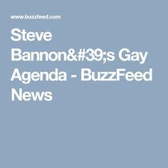 Steve Bannon's Gay Agenda - BuzzFeed News