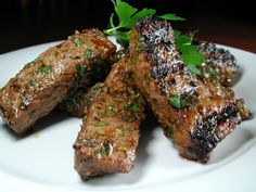 """Marinated Grilled Lamb: """"This took me less then five minutes to put together and was so simple to grill. My husband said it was the best lamb he's ever tasted. Lamb Recipes, Pork Chop Recipes, Grilling Recipes, Meat Recipes, Cooking Recipes, Dinner Recipes, Savoury Recipes, Healthy Recipes, Barbecue Recipes"""