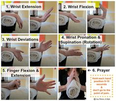 Remedies To Relief Pain Wrist Exercises - If you have been neglecting your wrists and they are starting to cause some discomfort or slight pain, **try these 6 rehabilitation exercises to regain mobility and strength… Wrist Extensi… Carpal Tunnel Relief, Carpal Tunnel Syndrome, Pain Relief, Carpal Tunnel Exercises, Arthritis Exercises, Rheumatoid Arthritis, K Tape, Physical Therapy Exercises, Therapy Activities