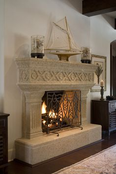 Cast Stone FirePlace Paint and Antique Glaze - YouTube | Cast ...