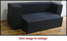 Dixie puzzle foam sofa & other loft-friendly convertible furniture