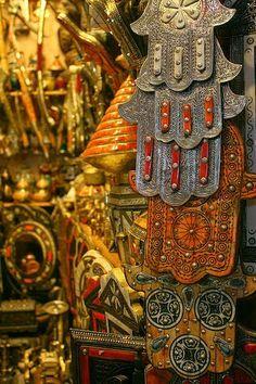 Strolling Through Life Jewish Art, Religious Art, Ancient Protection Symbols, Hamsa Art, Mandala, Vintage Gypsy, Hand Of Fatima, Dream Decor, Ethnic Jewelry