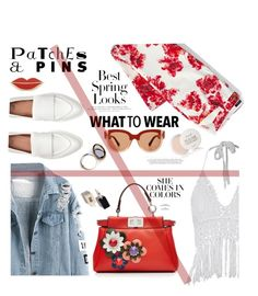 """""""flowers and patches"""" by nataskaz ❤ liked on Polyvore featuring H&M, Georgia Perry, Lands' End, Fendi, Marni, Odeme, Fresh, patchesandpins and plus size clothing"""