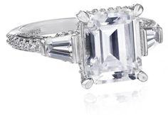 """Myia Passiello """"Timeless"""" Swarovski Zirconia Emerald Ring, Size 6 Myia Passiello,http://www.amazon.com/dp/B005I0JWOM/ref=cm_sw_r_pi_dp_RRYHsb0P1CAWS7WM"""
