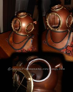 Awesome Homemade Deep Sea Diver Helmet... This website is the Pinterest of costumes