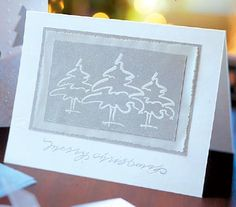 tree stamps helped create this card, but the design is simple enough to draw freehand.
