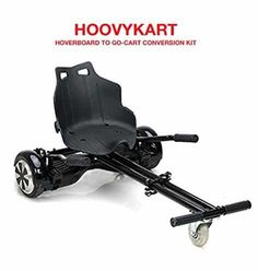 Hoverkart for Hoverboard Attachment Accessory for Wheel Self Balancing Scooter,Transform your hoverboard Into A GoKart,Hover Kart Attachment Black Electric Go Kart, Electric Scooter, Scooter Storage, Scooter Wheels, Scooters For Sale, Balance Board, Outdoor Power Equipment, Kit, Cool Stuff