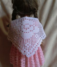 165 Filet Rose Shawl Crochet Pattern for 18 Inch von barbsdolls