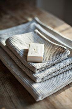 Natural Linen Towel / Bath Towel / Natural Beige Linen by LINOHAZE