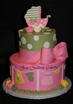 Clothesline Baby Shower Cake | Flickr - Photo Sharing!