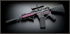 Blk and pink ar15