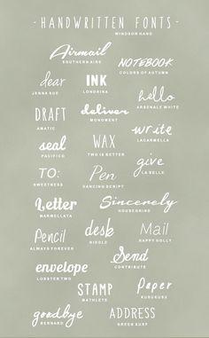 tipografias handscript gratis descargables