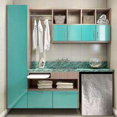 80 dicas de como organizar a casa e manter sempre arrumada Laundry Room Design, Interiores Design, Double Vanity, Diy Design, Design Ideas, Bathroom Medicine Cabinet, Living Room Designs, Sweet Home, Home Appliances