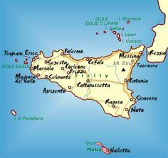 Sicily Travel Map