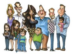 Modern Family Character drawings   Modern Family Cartoon - Modern Family Fan Art (19771620) - Fanpop fanclubs