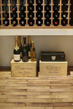 voluminous conditioned wine cellar
