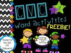 Thank you for all of your support!To celebrate reaching 200 followers on TPT I am sharing this freebie! Please leave me feedback and tell me what you think!!!Great to get students practicing identifying, reading, and spelling CVC words!