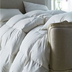 Down Legends® Damask Baffled White Goose Down Comforter | The Company Store