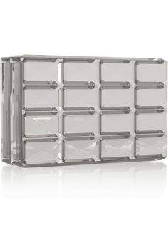 Fendi Mirrored resin box clutch