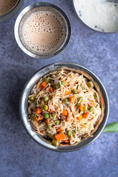 South Indian style Semiya / vermicelli upma - Helathy and easy breakfast recipe with vegetables and roasted vermicelli.. Makes for a great snack/ tiffin with some chutney and sambar on the side.. Make this in less than 20 minutes..! #upma #healthybreakfast #veganbreakfast #vermicelli #semiya #easyrecipes #instantpotrecipes #indianinstantpotrecipes #tiffinrecipes #quickrecipes   cookingwithpree.com Deep Fried Recipes, Best Vegan Recipes, Quick Recipes, Indian Food Recipes, Vegetarian Recipes, Cooking Recipes, Healthy Recipes, Ethnic Recipes, Indian Breakfast