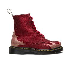 91bc75c87a8 Dr martens 1460 pascal flame glitter