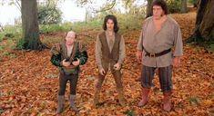De izquierda a derecha, Wallace Shawn, Mandy Patinkin y André el Gigante en un fotograma de 'La princesa prometida'.