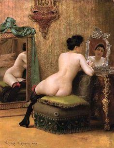 Georges Croegaert (Belgian, 1848-1923), Femme au boudoir