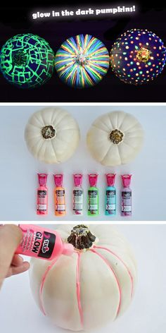 Sadly didn't glow as well as I wanted or thought but still cute - DIY Glow In The Dark Pumpkins